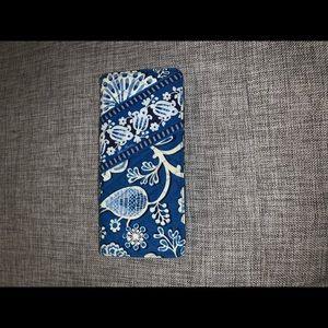 Blue Vera Bradley Passport Holder/Wallet